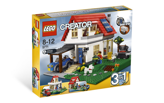 Creased Box 5771 Lego Creator Hillside House