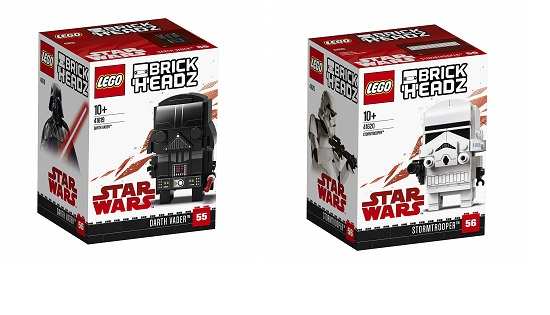 Lego Brickheadz Star Wars Darth Vader And Stormtrooper 41619 41620