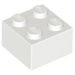 Bulk Lot of 2x2 LEGO® Brick (White)