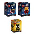 LEGO® BRICKHEADZ Marvel and DC Comics set 41585 41589 41590