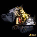 LIGHT MY BRICKS Kit for 42100 LEGO® TECHNIC Liebherr R 9800 Excavator