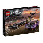 76904 LEGO® SPEED CHAMPIONS Mopar Dodge//SRT Top Fuel Dragster and 1970 Dodge Challenger T/A