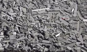1kg Lots of Pre-Owned GREY LEGO®  (PRE-OWNED)