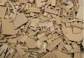 1kg Lots of Pre-Owned TAN LEGO® (PRE-OWNED)