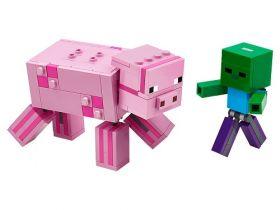 21157 LEGO® MINECRAFT™ BigFig Pig with Baby Zombie