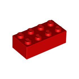 2x4 LEGO® Brick (Red)