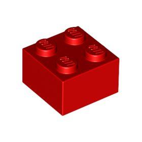 2x2 LEGO® Brick (Red)