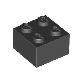 2x2 LEGO® Brick (Black)