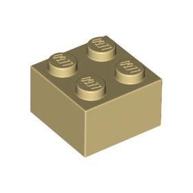 2x2 LEGO® Brick (Tan)