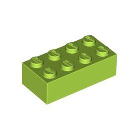 2x4 LEGO® Brick (Lime)