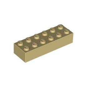 2x6 LEGO® Brick (Tan)