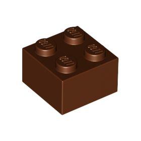 2x2 LEGO® Brick (Reddish Brown)