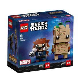 LEGO BRICKHEADZ Marvel Avengers Infinity war set Groot and Rocket 41626