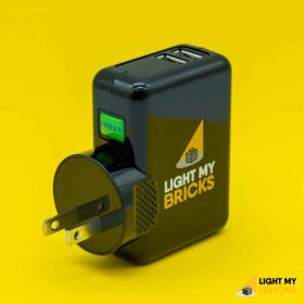 LIGHT MY BRICKS - UNIVERSAL POWER ADAPTOR 5V 4 AMP USB WALL ADAPTOR